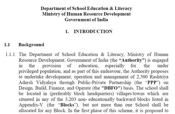 Minority Blocks, Bihar and Jharkhand Ignored by HRD in selection for Rashtriya Adarsh Vidyalaya
