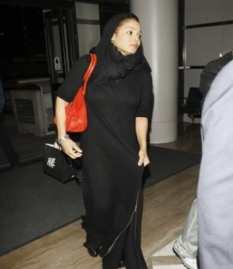 Janet Jackson converts to Islam, spotted wearing Islamic Abaya in Qatar