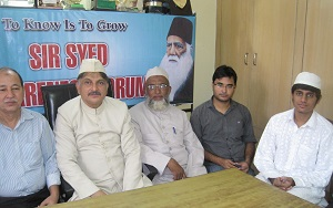 Dr. Shakeel Samdani, ML Obaid Iqbal and Najam Abbasi sitting