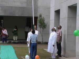 Tiranga being hoisted at Hanifa School