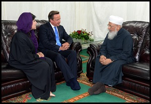 UK Prime Minister David Cameron along with Faiths Minister Baroness Warsi met Hazrat Allama Qamaruzzaman Azmi in Manchester