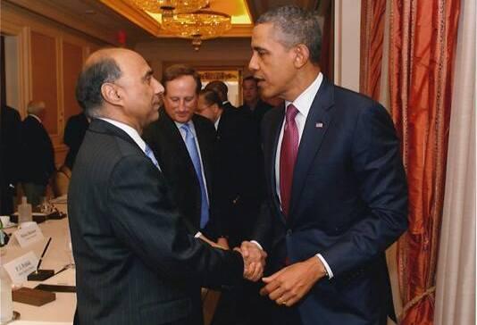 DrFrank F. Islam with president Obama.