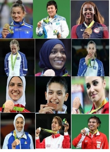 Muslim women who have won medals at the Rio Olympics