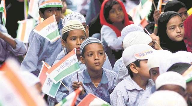 Students at a madarsa in Mau Aima, Allahabad. Express photo by Ritesh Shukla