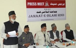 L-R: Mohammad Ahmed, Mohammad Salim Engineer, Maulana Syed Jalaluddin Umari, Nusrat Ali, Ejaz Ahmed Aslam