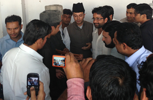 AMU students leaders meeting JItin Prasad