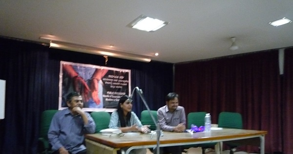 L-R:: Professor Sreedhara, Professor Manisha Sethi and Advocate S.A.H. Razvi