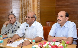 AMU PVC Addressing the Press Conference at Administrative Block