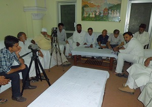 Members of Muslim delegation holding press conference at Tonk circuit house on Sunday