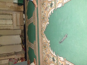 tear gas shell on the floor of the mosque