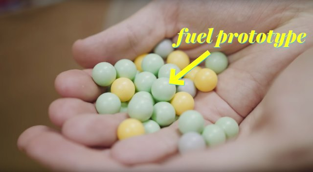 Uranium pebble balls